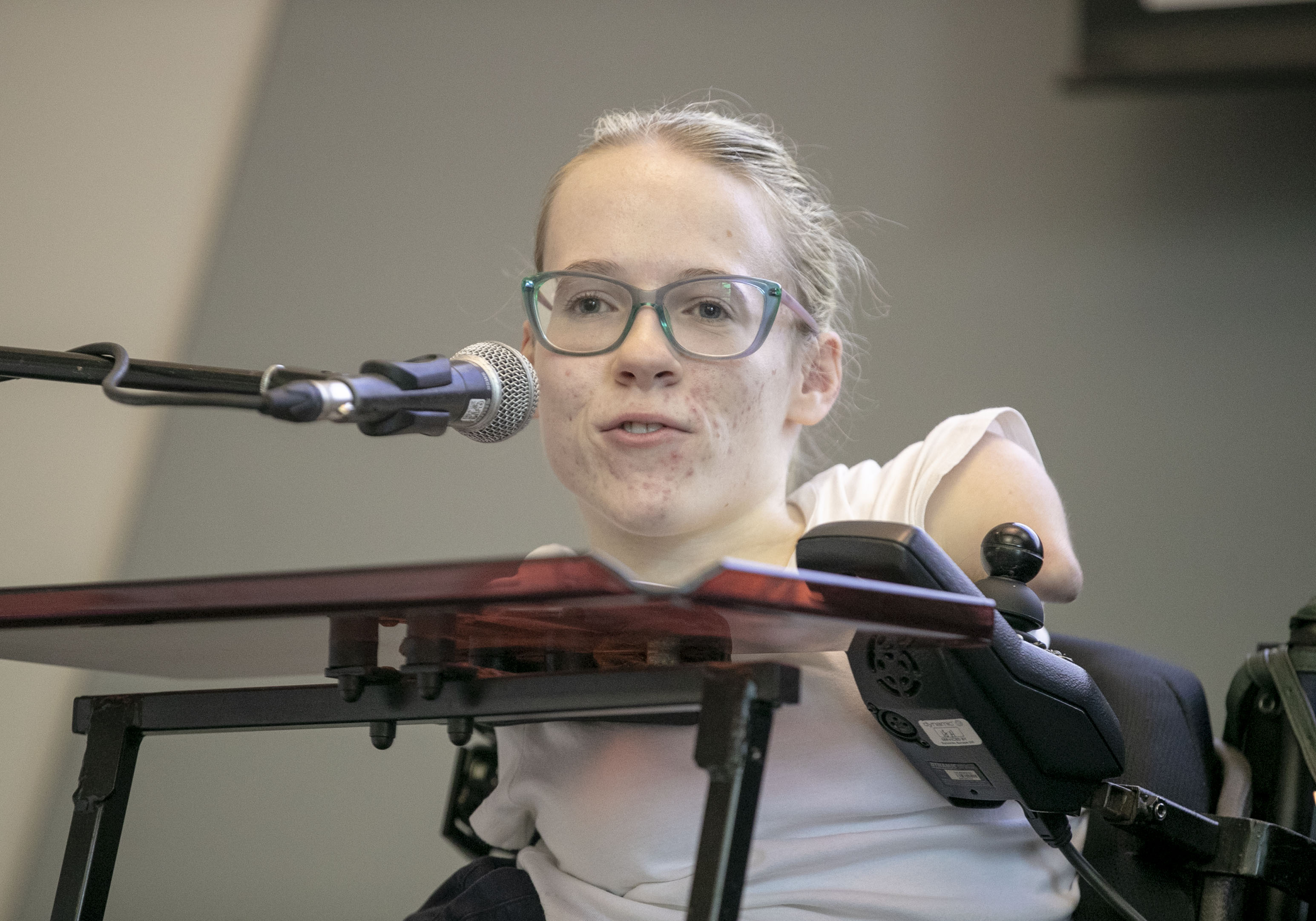 Disability rights campaigner talks about empowerment at the NAS launch event