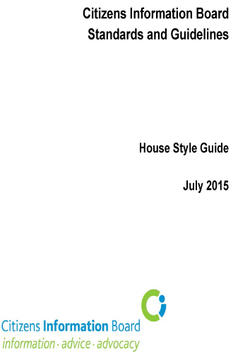 Cover of CIB House Style Guide (2015)