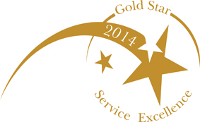 Gold Star Service Excellence 2014 logo
