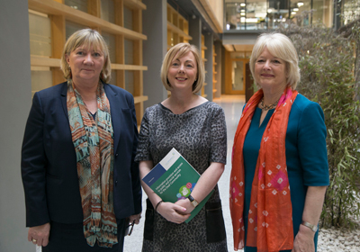 Pictured at the Deaf Community Report launch were from left: Angela Black, Chief Executive, Minister for Employment Affairs and Social Protection, Regina Doherty T.D. and Anne Coogan, Chair, Sign Language Interpreting Service (SLIS).