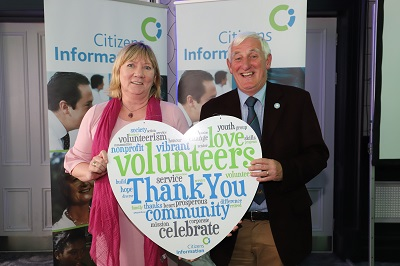 Pictured from left: Angela Black, Chief Executive, CIB and Niall Cremin, Chairperson, South Munster Citizens Information Service.