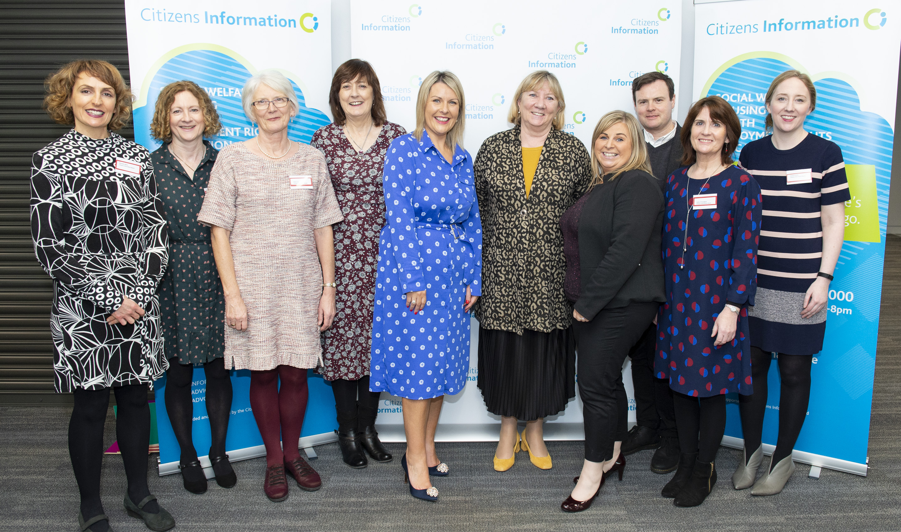 CIB event organisers pictured from left: Michelle Melia,                                    Claire Ruddy, Eileen Lee, Mary Kelliher, Sara McSweeney,                                    Angela Black, Chief Executive, Sharon Conroy, Michael Owens, Cathy O'Donoghue and Grainne Griffin.