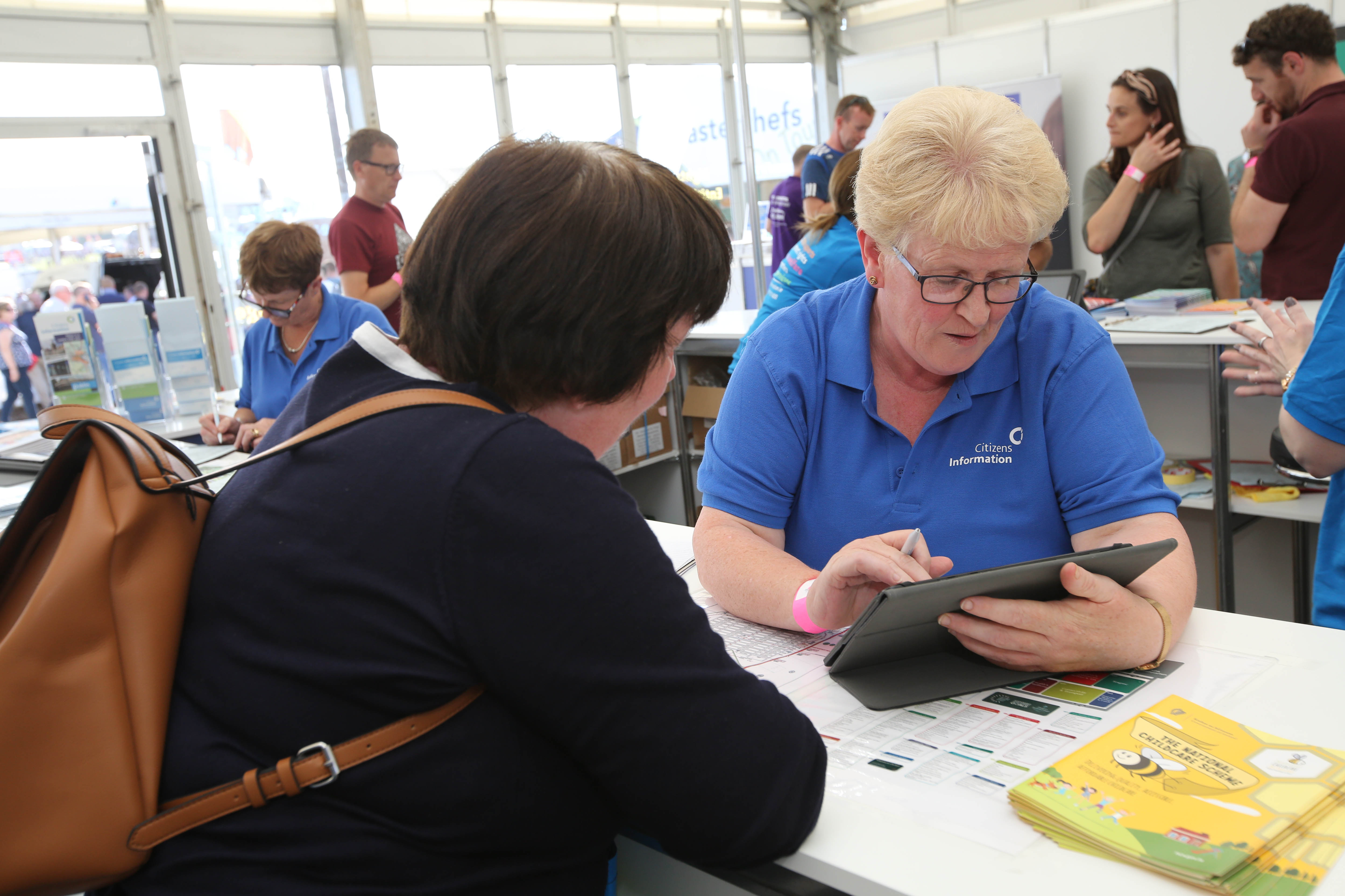 Citizens Information giving information at the National Ploughing Championships.