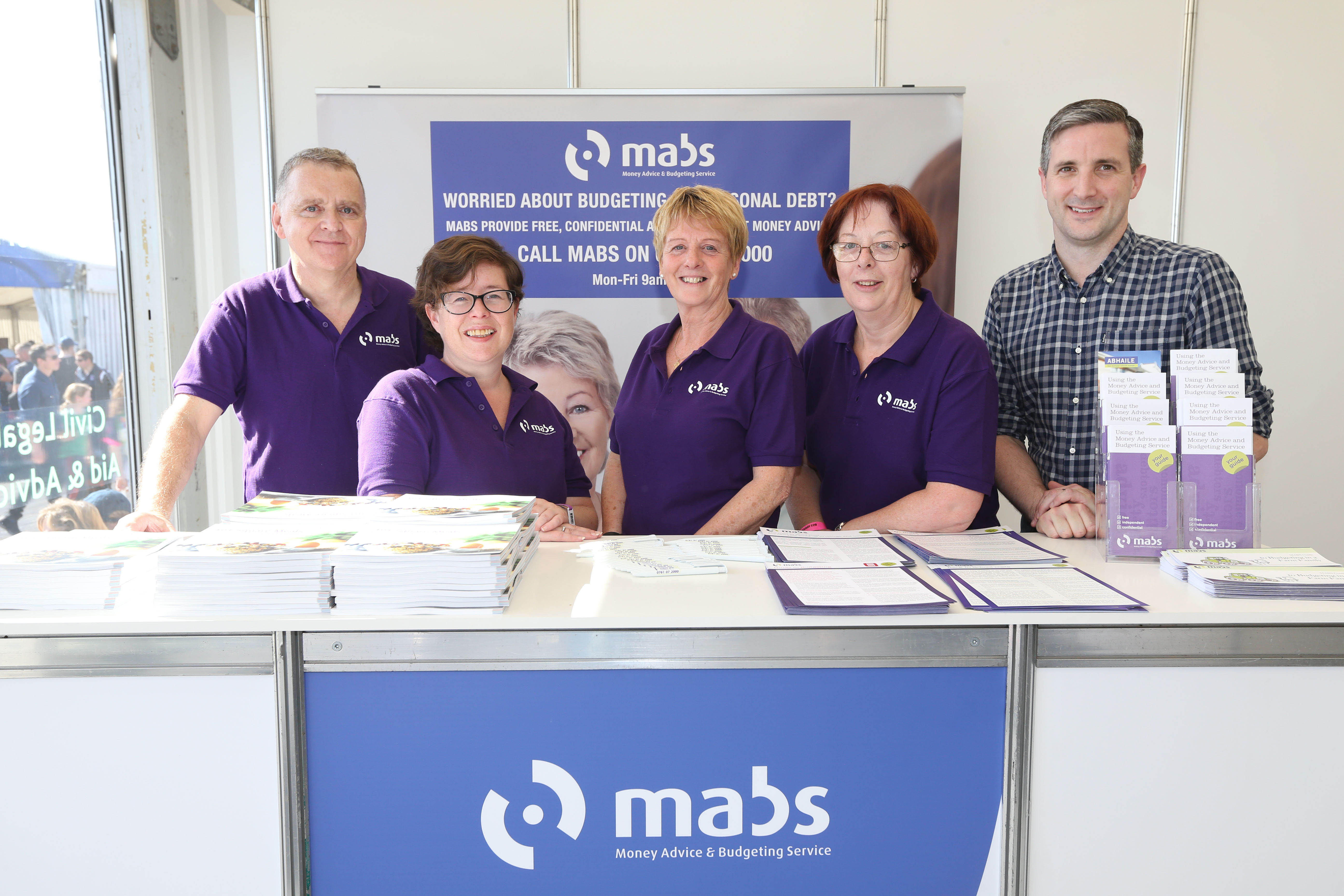 MABS staff pictured at the National Ploughing Championships with senior manager Adrian O' Connor.