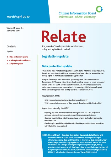 Cover of Relate periodical
