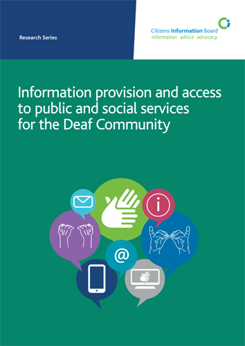 Information provision and access to public and social services for the Deaf Community