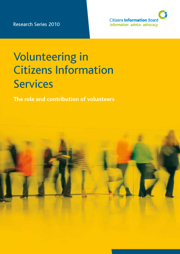 Cover of Volunteering in Citizens Information Services (2010)